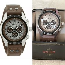 New FOSSIL CH2565 Coachman Chronograph Cuff Leather Men's Watch $135 - $98.90