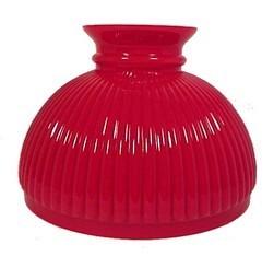 66537abon red cased glass ribbed 10 inch oil lamp student shade fits aladdin kerosene