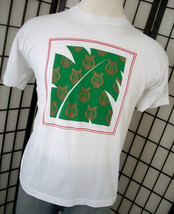 Green Leaf with Harps Screen Stars 50/50 white adult tee shirt xl USA - $18.95
