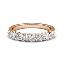 0.25 Carat G-H Diamond 7 Stone Bridal Wedding Anniversary Ring 14K Rose ... - $474.21