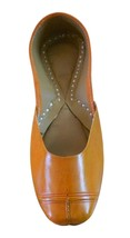 Women Shoes Mojari Indian Handmade Leather Orange Casual Flat Jutties US... - $24.99