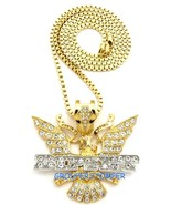 Dipset Necklace New Iced Out Pendant 30 Inch Chain Diplomats - $19.99