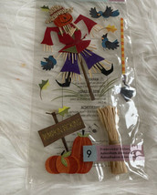 Jolee's boutique dimensional stickers Scarecrows Thanksgiving Pumpkin Fall - $8.90