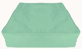 """Box Cushion Cover Solid Polyester 18x18x5"""" Aero Blue with Piping & Zipper - $17.82"""