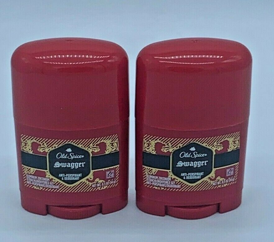 Primary image for Lot Of 2 Old Spice Swagger Deodorant Antiperspirant Solid Stick Men Travel Size