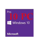 WINDOWS 10 PRO 32 / 64 BIT GENUINE LICENSE KEY - FOR UP TO 10 PC - $21.99
