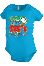 Im my little siss bodyguard Funny Baby Bodysuit Infant Creeper Shower pa... - $12.99