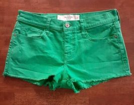 Abercrombie & Fitch Womens Cut Offs Mini Shorts Size 2 Green Distressed - $12.99