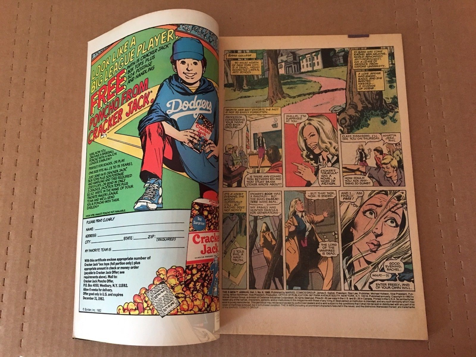 X-Men Annual 6 Marvel Comic Book from 1982 VF+ Condition Uncanny X-Men