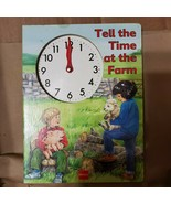 Tell the Time at The Farm Board Book with Clock 1996 Stephanie Ryder Eng... - $9.74