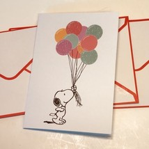 Graphique Peanuts Gang Blank Notecard Set 16 Snoopy Balloon Bouquet  - $19.64