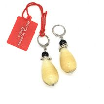 EARRINGS ANTICA MURRINA VENEZIA WITH MURANO GLASS DROP YELLOW OR540A02 image 3