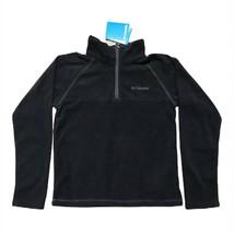 Columbia Black Fleece 1/4 Zip Front Fleece Boys Girls Unisex Size Small 6 - $11.87