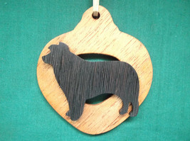 Australian Shepherd Dog Ornament personalized with your dog's name - $12.00