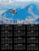 2017 Army Calendar Poster UH-60 Black Hawk Helicopter Poster Calendar - $19.79