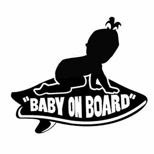 DECAL-STYLE - 17.8CMx15.2CM Baby GIRL on Board Vans Surfboard Vinyl Decal Sticke
