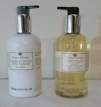 Crabtree & Evelyn Caribbean Island WILD FLOWERS Body Lotion Hand Wash So... - $44.50
