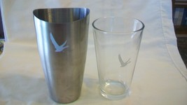 Grey Goose Vodka Metal Shaker Tin with Logo and Clear Pint Glass with Logo - $37.13