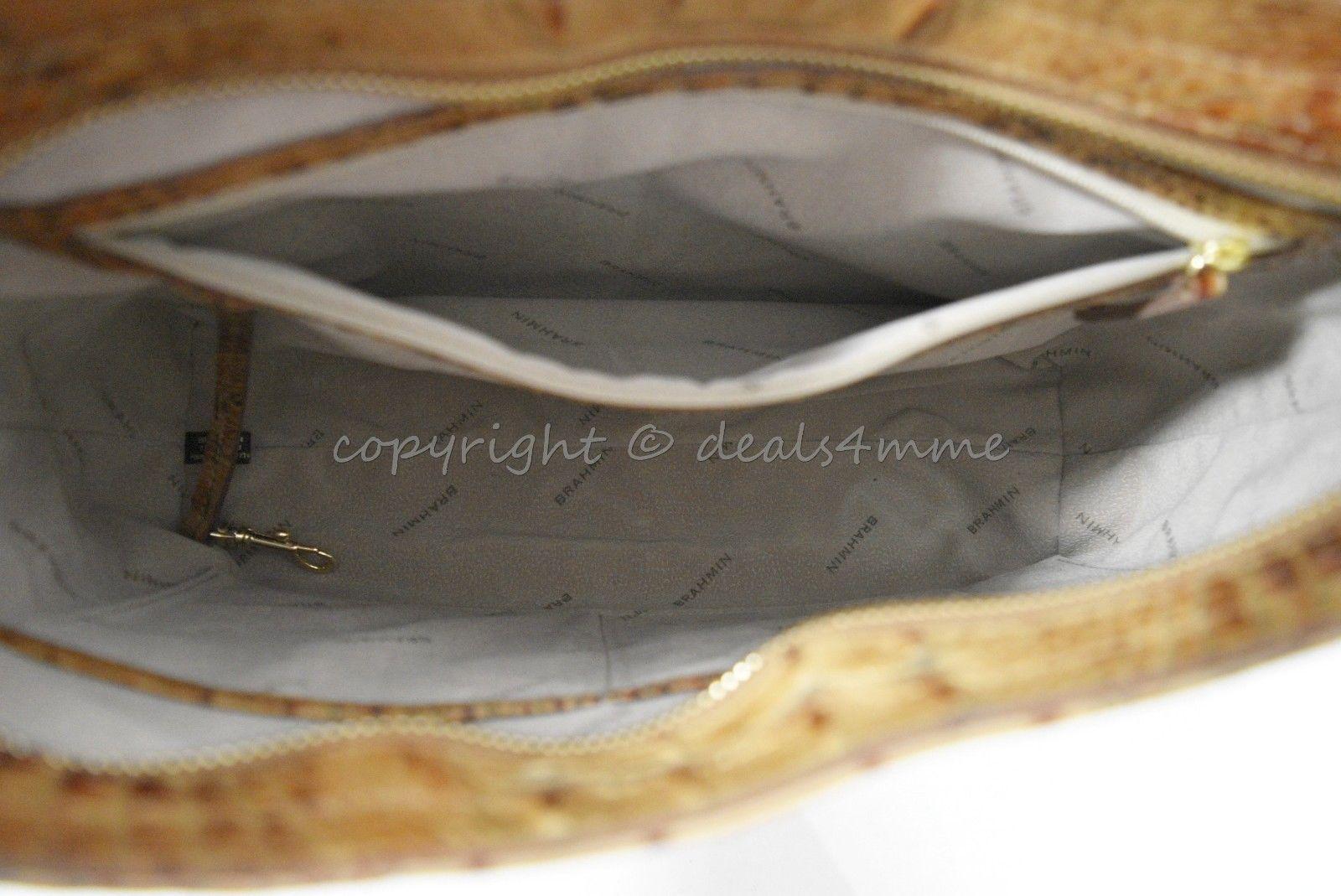 NWT Brahmin Noelle Leather Tote / Shoulder Bag in Toasted Almond Melbourne image 7
