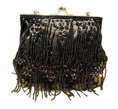 Beading Tassel Cross-body Bag Vintage Sequin Handbag for Party