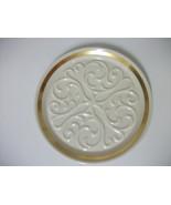 LENOX CHINA EMBOSSED DESIGN PLATE DISH HAND DECORATE W/ 24K GOLD TRIM PR... - $14.99