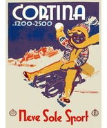 Decoration Poster.Cortina.Italy travel shop decor.Room.Wall art design.1... - $10.89+