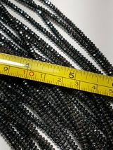 """SPARKLING FACETED HEMATITE BEADS DISCS RONDELLE 4X2MM -  15.5"""" Strand image 3"""