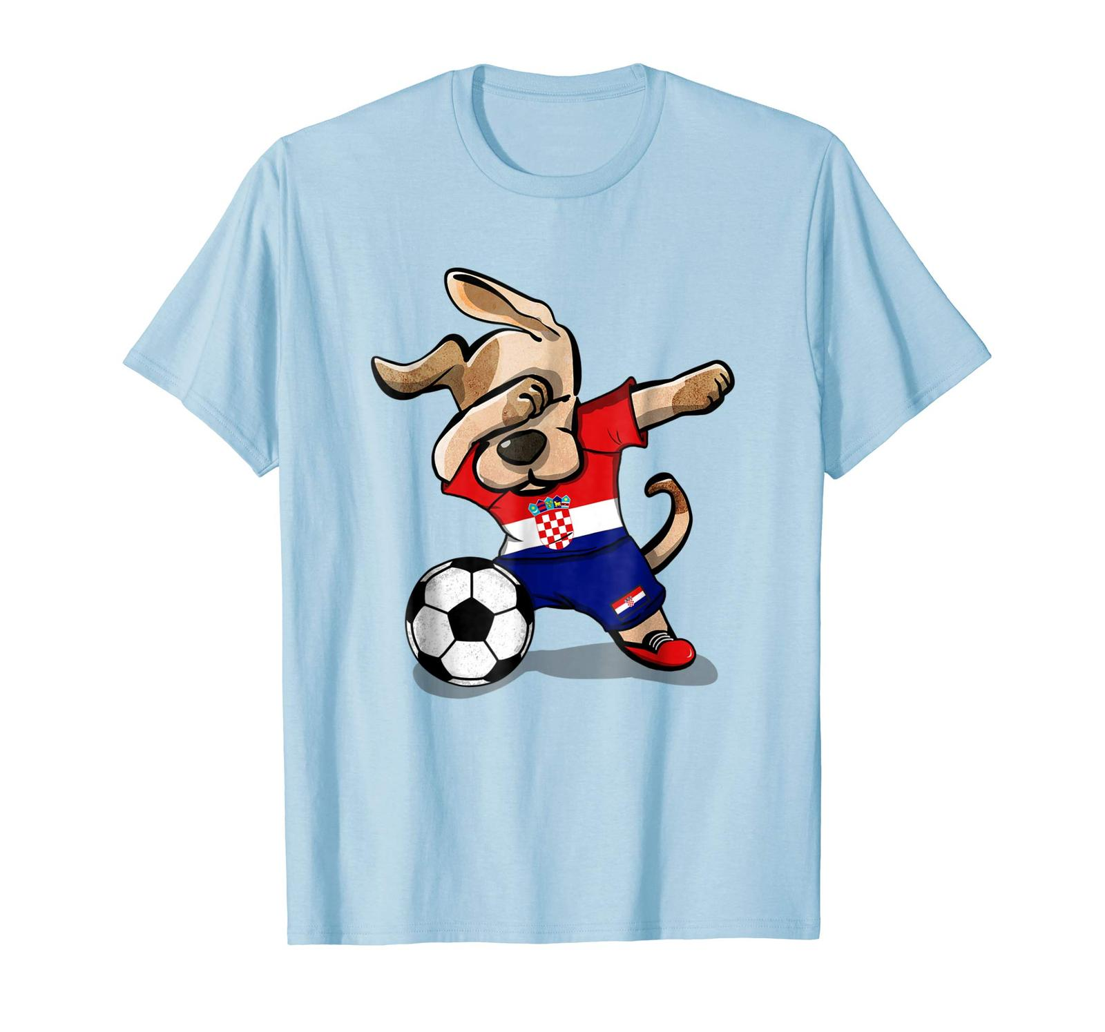 Primary image for New Shirts - Dog Dabbing Soccer Croatia Jersey Shirt Croatian Football Men