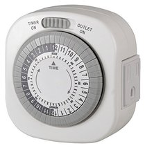 Westek TM1677DHB Grounded Big Button Daily Mechanical Timer, Single Outl... - $16.82