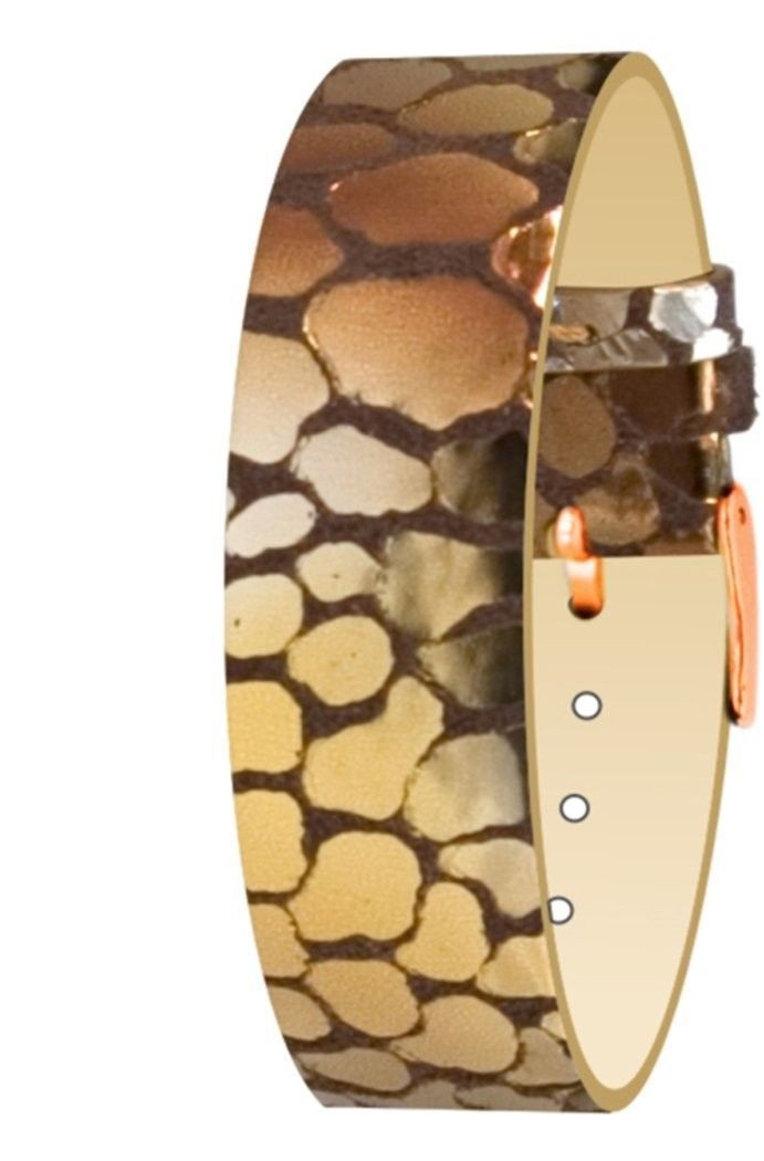Primary image for Moog Paris Copper Pecari Leather Bracelet for Women, Scale Pattern, Pin Clasp, 1