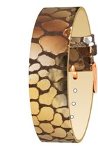 Moog Paris Copper Pecari Leather Bracelet for Women, Scale Pattern, Pin ... - $46.65