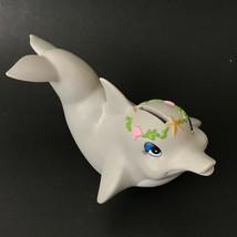 Vintage Dolphin Coin Bank Animal Piggy Banks Plastic  - $21.49