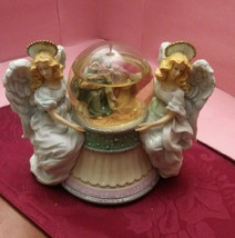 SAN FRANCISCO MUSIC BOX CO. SNOW GLOBE, OH COME LET US ADORE HIM-Marjori... - $21.49