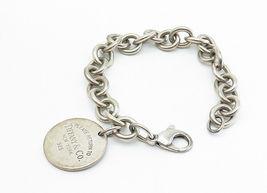 TIFFANY & CO 925 Silver - Vintage Minimalist Round Link Chain Bracelet - B6000 image 3