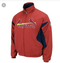 St. Louis Cardinals Majestic On-Field Therma Base Full-Zip Jacket Coat L... - $74.25
