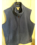 Woolrich Womens Vest - Size XL - Navy Blue Fleece - $13.37