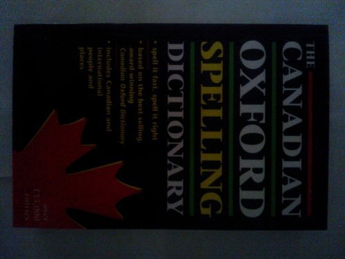 Canadian Oxford Spelling Dictionary [Hardcover] Pontisso, Robert