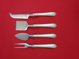 Wild Flower by Royal Crest Sterling Silver Cheese Serving Set 4pc HHWS  Custom - $247.10