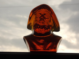 Viking Art Glass Sea Captain Paperweight Special Pour Amber Ware #7878, ... - $75.00