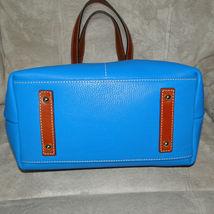 Dooney & Bourke Pebble Leather Convertible Shopper ICE BLUE image 5