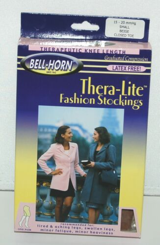 BellHorn 11900 Knee Length Stockings Graduated Compression Beige Small