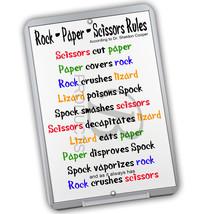 According to Sheldon Cooper's Rock Paper Scissors Rule 8x12 Aluminum Sign - $15.79