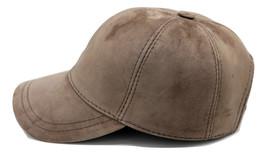 Desert Sand Suede Leather Adjustable Baseball Cap  - €22,77 EUR