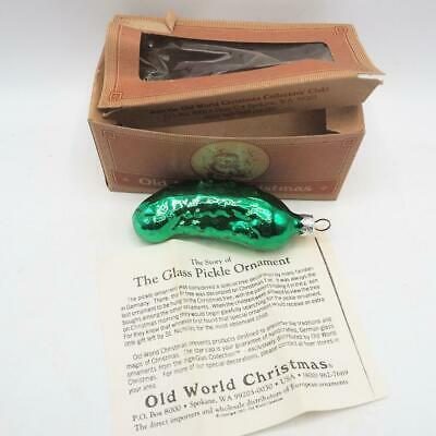 Primary image for Old World Christmas Shiny Green Pickle Glass Ornament