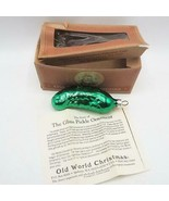 Old World Christmas Shiny Green Pickle Glass Ornament - $9.89