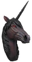 Ebros 'Nightmare' Night Shade Dark Unicorn Wall Head Mount Decor 3D Figu... - $43.65
