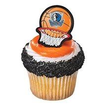 Decopac NBA Dallas Mavericks Basketball Cupcake Rings Toppers - $12.74