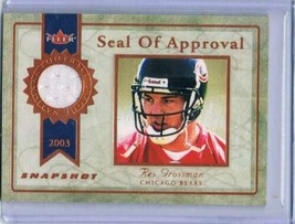 2003 Fleer Snapshot Seal of Approval Jerseys Bronze #SARG Rex Grossman  - $11.53