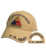 3rd Armored Division, Khaki, Embroidered Logo Baseball Cap - $18.99