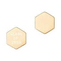 Sterling Silver Hexagon Stud Earrings - Class of 2020 - Senior Gift/Present - $54.45
